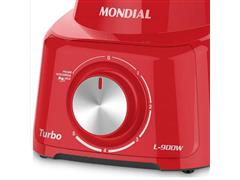 Liquidificador Turbo Mondial Vermelho 2,5 Litros 5 Velocidades 900W - 3