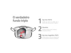 Caçarola Funda Tramontina Professional Aço Inox Ø 28CM - 3