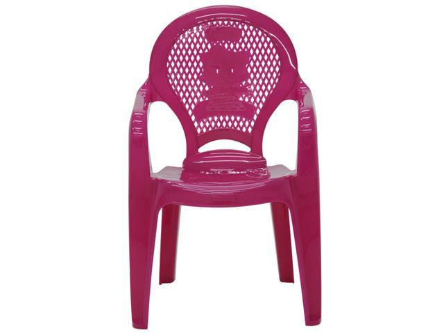 Cadeira Infantil Tramontina Estampada Catty Rosa