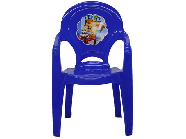 Cadeira Infantil Tramontina Catty Adesivo Azul