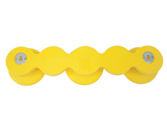 Cabide em formato Bola Tramontina Amarelo - 1