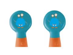Colher e Garfo Flexível Multikids Azul e Laranja - 2