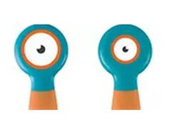 Colher e Garfo Flexível Multikids Azul e Laranja - 3