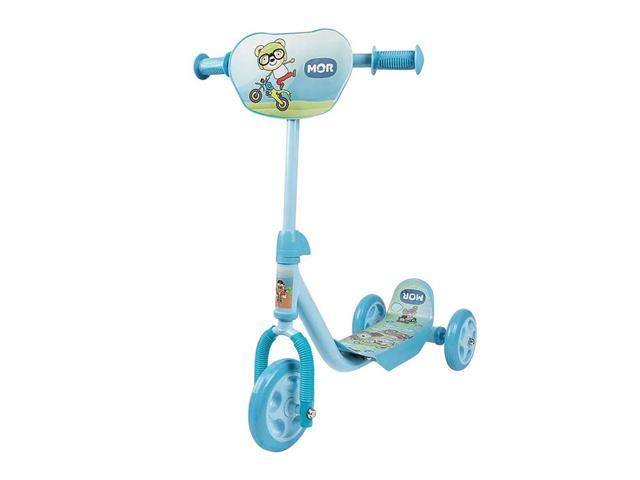 Patinete Infantil MOR Ursinho Azul com 3 Rodinhas