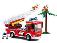 Blocos de Montar  Caminhão de Bombeiro com Escada Multikids 269 Peças