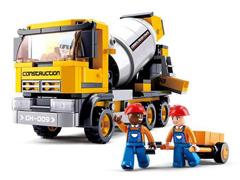 Blocos de Montar  Construção Caminhão Betoneira Multikids 296 Peças - 1