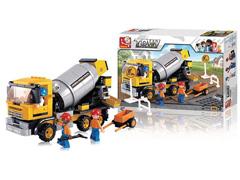 Blocos de Montar  Construção Caminhão Betoneira Multikids 296 Peças - 2