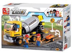 Blocos de Montar  Construção Caminhão Betoneira Multikids 296 Peças - 3