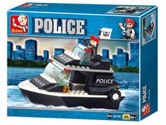 Blocos de Montar  Polícia Guarda Costeira Multikids 98 Peças - 2