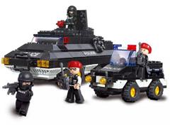 Blocos de Montar  Polícia Tanque de Guerra Multikids 311 Peças - 0