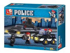 Blocos de Montar  Polícia Tanque de Guerra Multikids 311 Peças - 1