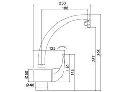 Misturador Monocomando p/ Cozinha 2257 C71 Lorenzetti Allure Cromado - 3