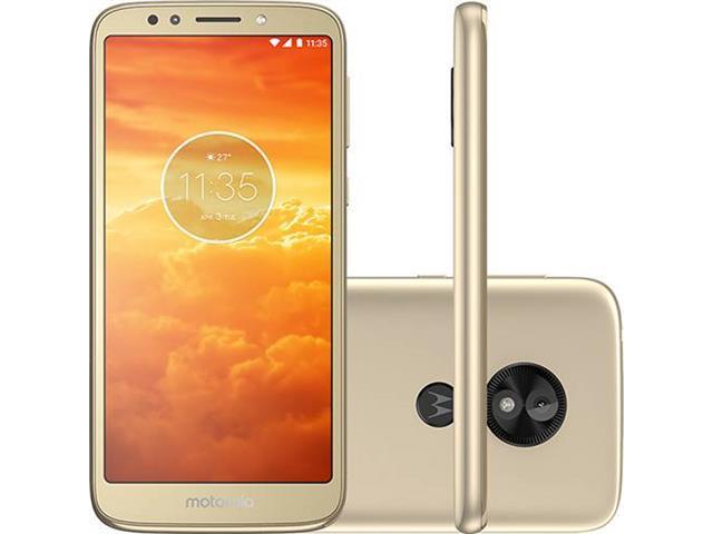 """Smartphone Motorola Moto E5 Play 4G 5.4"""" 16GB Dual Câmera 8MP Ouro"""