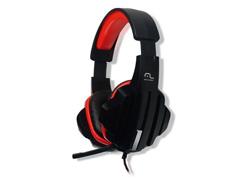 Fone de Ouvido Multilaser Headset Gamer P2 PH120 Preto e Vermelho - 1