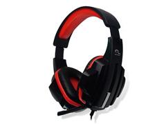 Fone de Ouvido Multilaser Headset Gamer P2 PH120 Preto e Vermelho