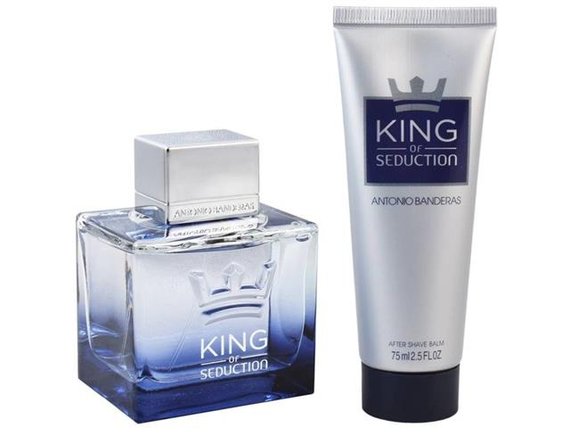 Kit Perfume Masculino Antonio Banderas King Of Seduction EDT+Pós Barba