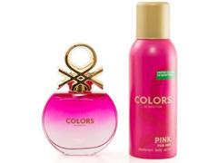 Kit Perfume Benetton Colors Pink EDT 80ml + Desodorante 150ml - 0
