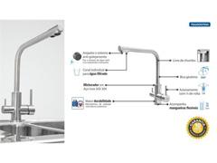 Misturador Monocomando Tramontina com Bica para Água Filtrada - 5