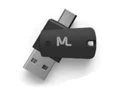 Kit Multilaser Adaptadores Dual Drive e SD com Cartão de Memoria 16GB - 1
