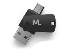 Kit Multilaser Adaptadores Dual Drive e SD com Cartão de Memoria 64GB - 1