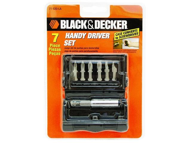 Kit de Parafusamento Black & Decker 7 Peças