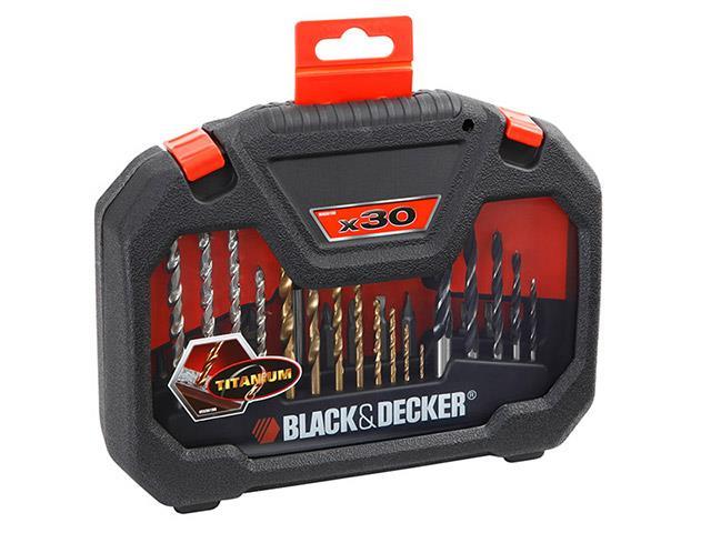 Jogo para Furar e Parafusar Black & Decker 30 Peças