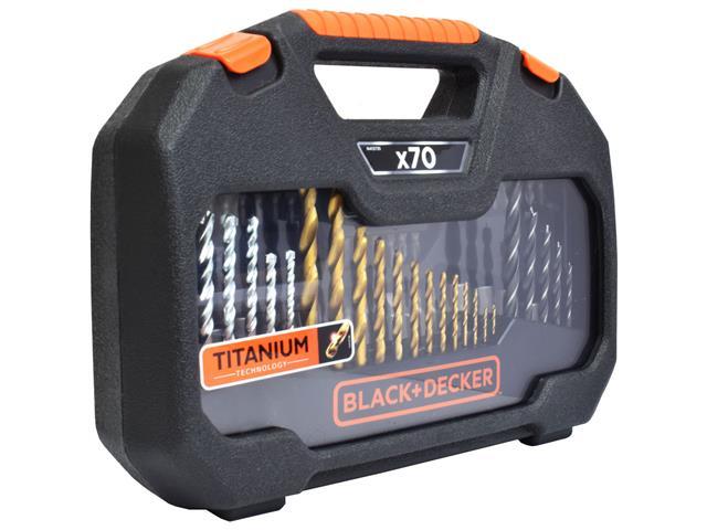 Jogo para Furar e Parafusar Black & Decker 70 Peças