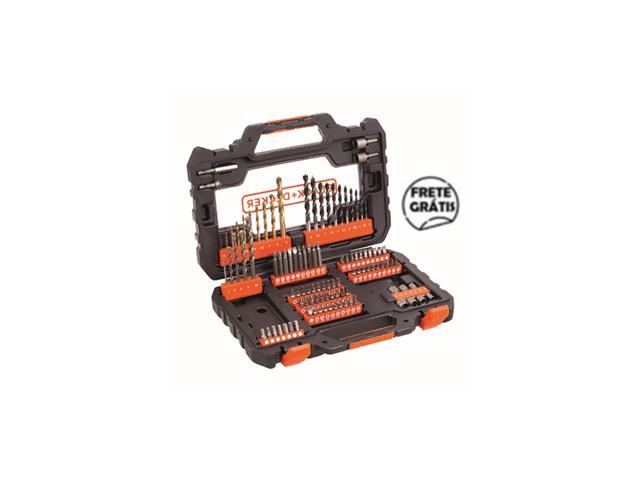 Kit de Furar e Parafusar com Maleta 104 Peças A7230-XJ BLACK+DECKER