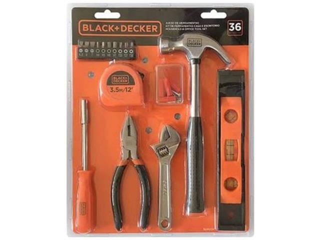 Kit de Ferramentas Casa e Escritório Black & Decker 36 Peças