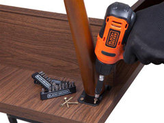 Furadeira e Parafusadeira Black & Decker Bateria 12V com 30 Bits - 3
