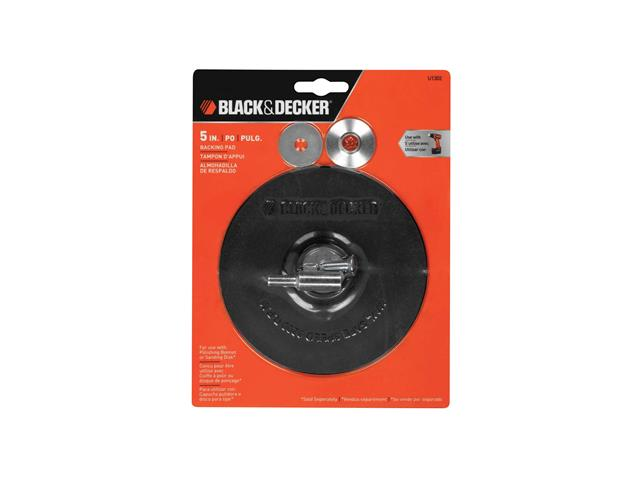 "Disco de Borracha Black & Decker com Adaptador Metálico 5"""