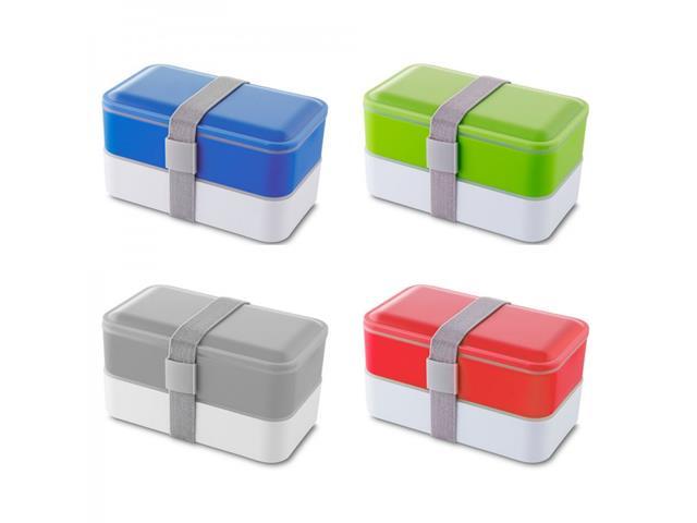Marmita Plástica 2 Compartimentos e Talheres Sortido