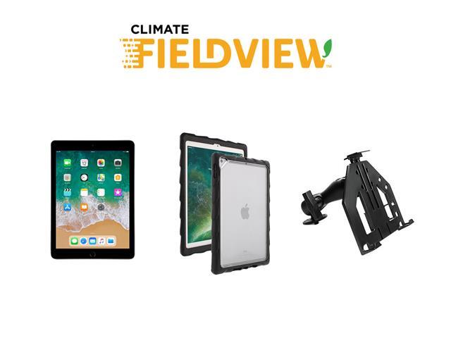 Kit Tablet +Suporte Parafusável p/iPad +Capa Gumdrop Climate FieldView