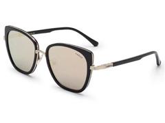 Óculos de Sol Colcci Preto e Dourado com Lente Marrom Revo Rosê Gold
