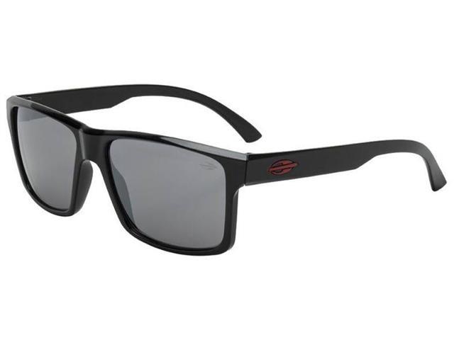 Óculos de Sol Mormaii Lagos Preto com Lente Cinza Flash Prata