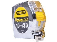 Trena Powerlock Stanley com Caixa Metálica 10M