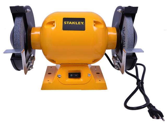 "Moto Esmeril de Bancada Stanley 1/2 HP 373W 6"" Bivolt"