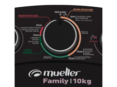 Lavadora Semiautomática Mueller Family com Aquatec Preta 10kg - 3
