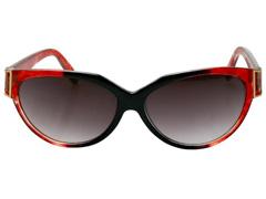 Óculos de Sol Unissex Tamanho Único Opus Vermelho e Preto