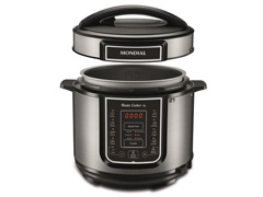 Panela de Pressão Elétrica Digital Mondial Master Cooker 5L Inox - 1