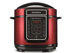 Panela de Pressão Elétrica Digital Mondial Master Cooker 5L Red