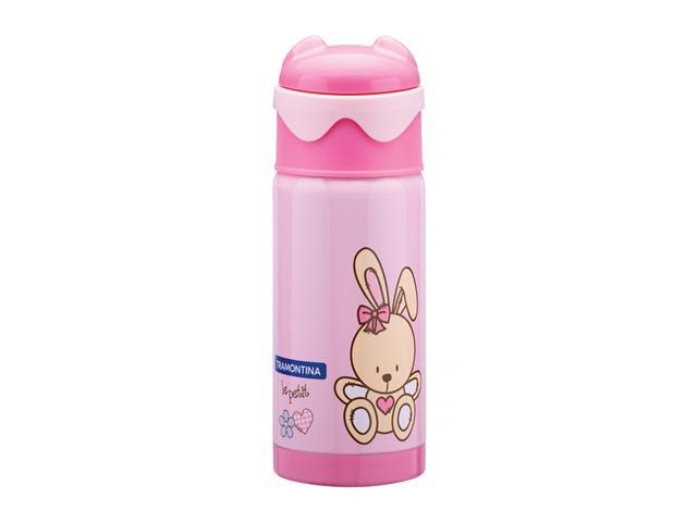 Garrafa Térmica Infantil Tramontina Le Petit  Rosa 350ml