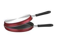 Omeleteira de Alumínio Tramontina Loreto Vermelha Ø 20 cm