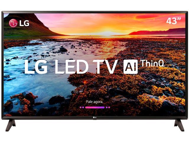 "Smart TV LED 43"" LG Full HD ThinQ AI TV HDR webOS 4.0 Wi-Fi 2HDMI 1USB"
