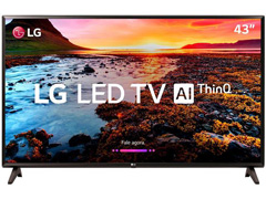 "Smart TV LED 43"" LG Full HD ThinQ AI TV HDR webOS 4.0 Wi-Fi 2HDMI 1USB"