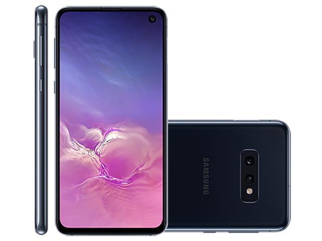 """Smartphone Samsung Galaxy S10e 128GB Tela 5.8"""" 6GB RAM 12+16MP Preto"""