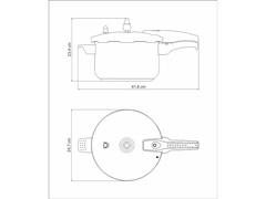 Panela de Pressão Tramontina Allegra 6 Litros - 3