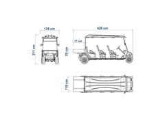 Veículo Utilitário Elétrico Elettro Tramontina 320CP AC 5KW 48V 6,7HP - 8
