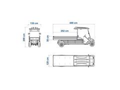 Veículo Utilitário Elétrico Elettro Tramontina 320CG AC 5KW 48V 6,7HP - 4