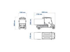 Veículo Utilitário Elétrico Elettro Tramontina 250BT AC 5KW 48V 6,7HP - 5
